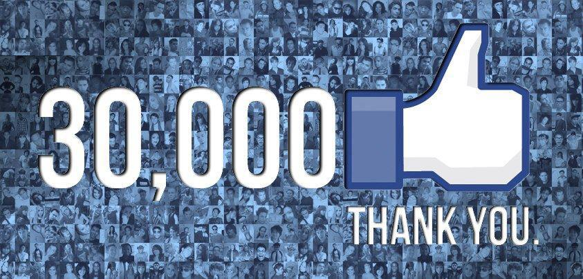 30,000 Like on Facebook!
